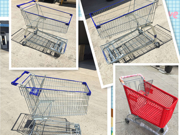What is the advantages of the plastic shopping carts than metal shopping carts?