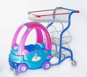 Kid Trolley with 3 Layer Storage Rack